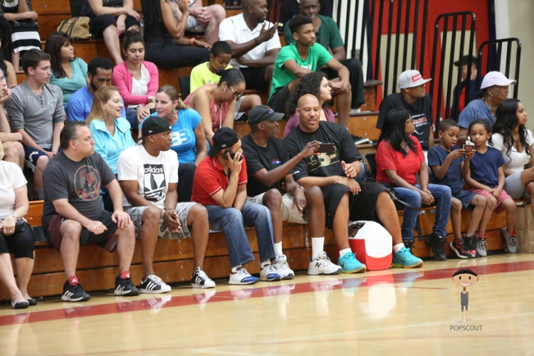 Lavar Ball in the Crowd
